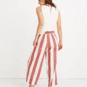 Madewell Huston Pull-On Crop Pants in Bold Stripe